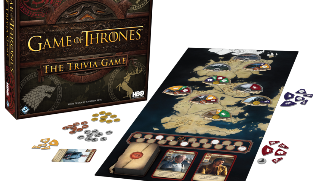 Trivial Pursuit Game of Thrones (crédits Fantasy Flight Games et HBO)
