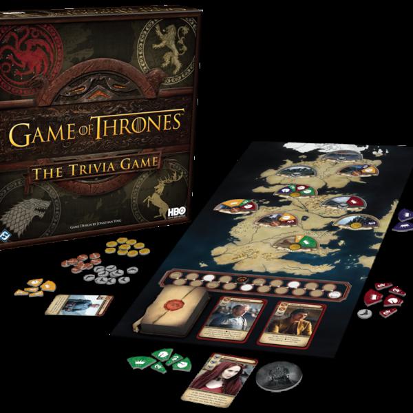 Trivial Pursuit Game of Thrones (crédits Fantasy Flight Games et HBO)