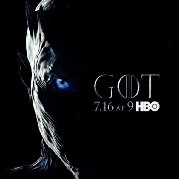 Affiche Game of Thrones saison 7 : le Roi de la Nuit (crédit HBO)