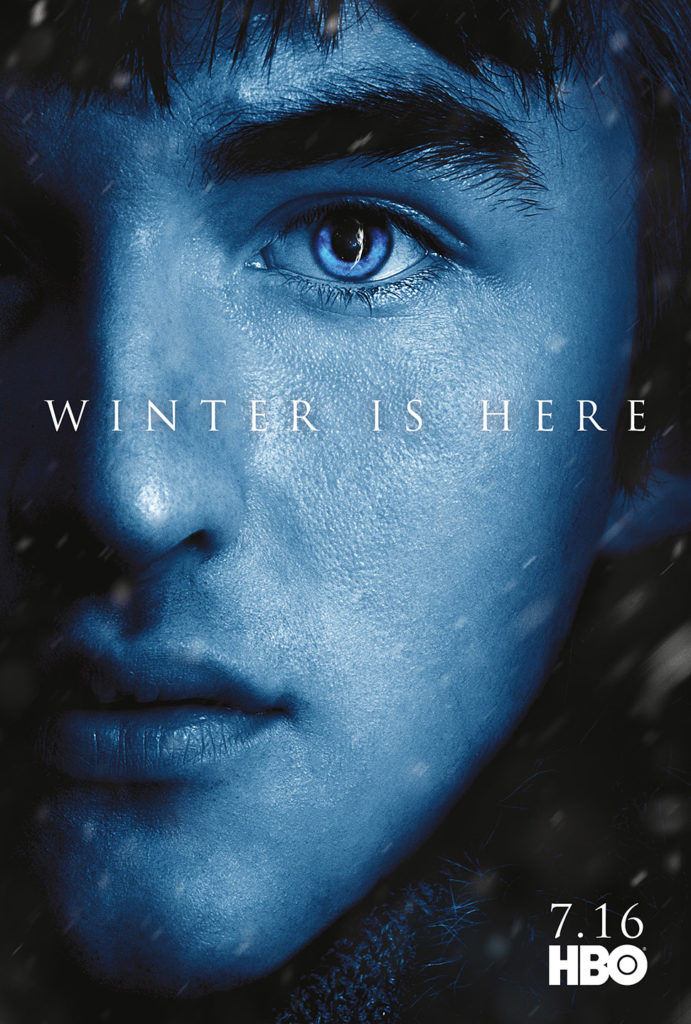 "Affiche Game of Thrones saison 7 ""Winter is Here"" : Bran Stark (crédit HBO)"