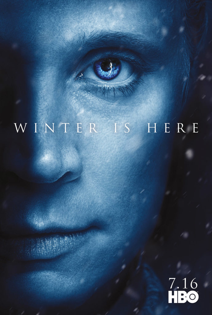 "Affiche Game of Thrones saison 7 ""Winter is Here"" : Brienne de Torth (crédit HBO)"