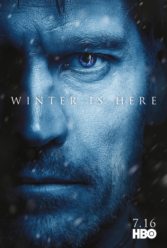 "Affiche Game of Thrones saison 7 ""Winter is Here"" : Jaime Lannister (crédit HBO)"