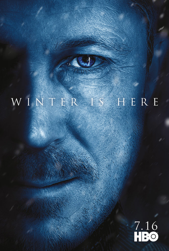 "Affiche Game of Thrones saison 7 ""Winter is Here"" : Petyr Baelish (crédit HBO)"