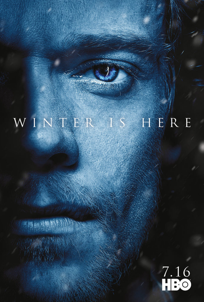 "Affiche Game of Thrones saison 7 ""Winter is Here"" : Theon Greyjoy (crédit HBO)"
