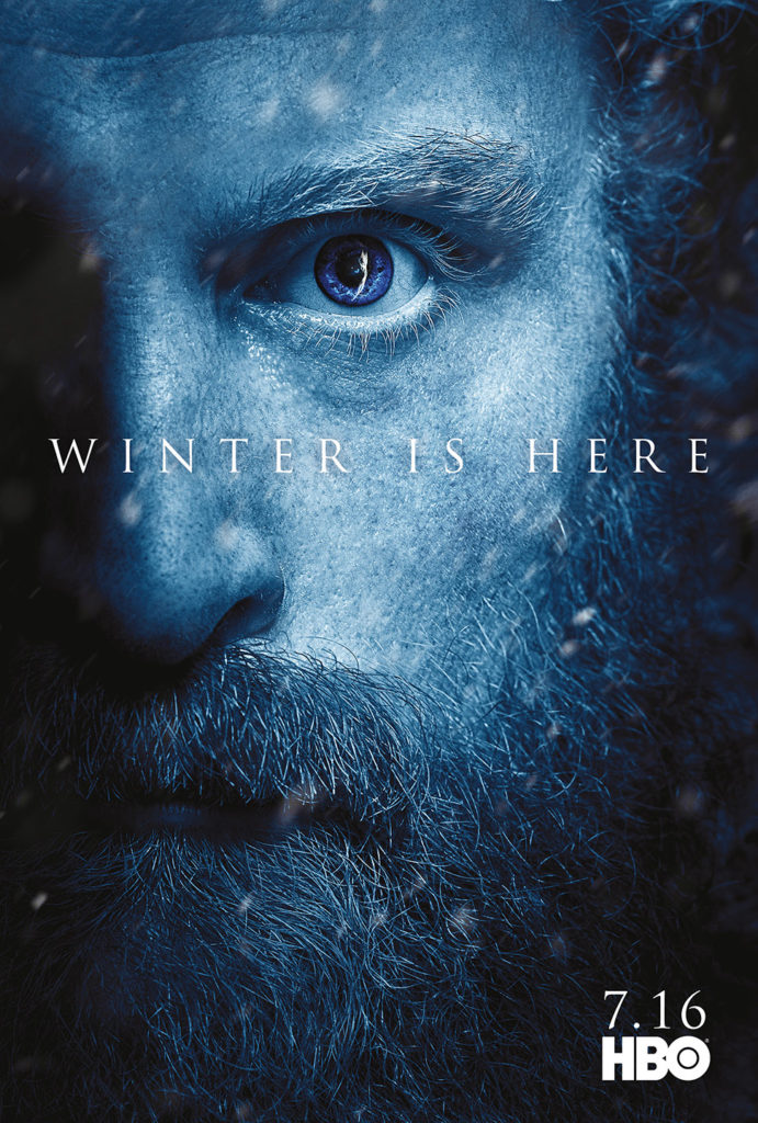 "Affiche Game of Thrones saison 7 ""Winter is Here"" : Tormund (crédit HBO)"
