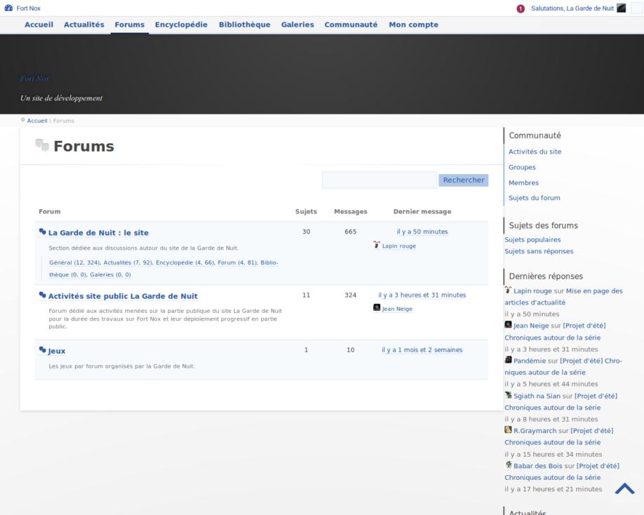 Racine des forums (développement)