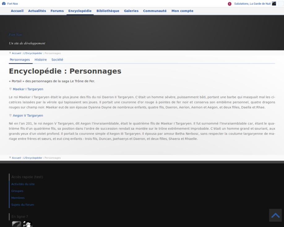 Catégorie de l'encyclopédie (développement)