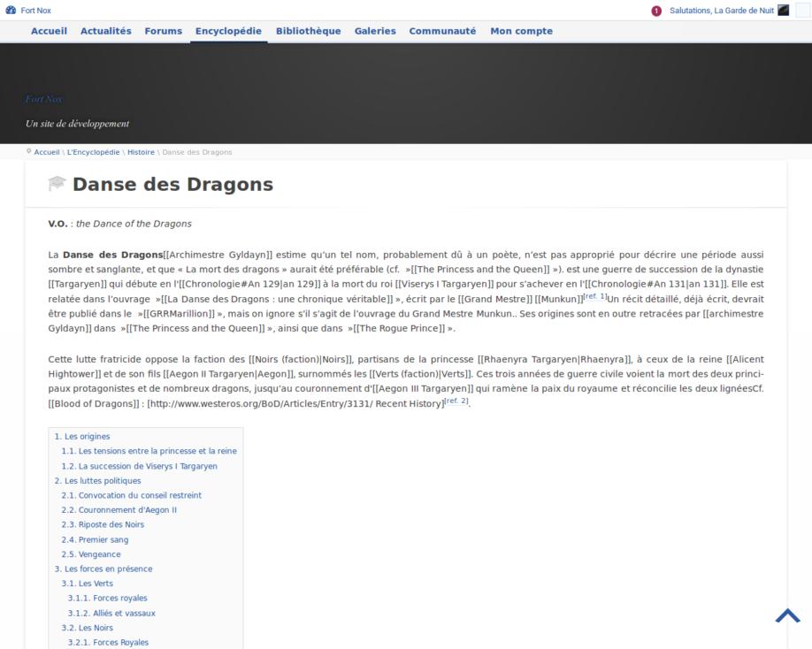 Article de l'encyclopédie (développement)