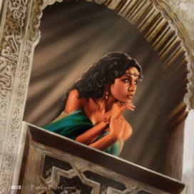 Arianne Martell, illustration de carte pour Fantasy Flight Games / Asmodee North America (Copyright: FFG)