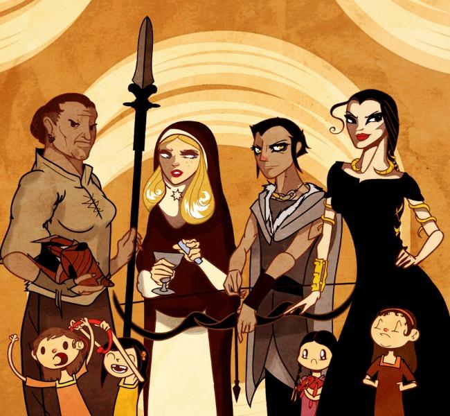 Les aspics de sables (Obara,Tyerne, Sarella, Nymeria et leurs sœurs), par Sir-Heartsalot ©