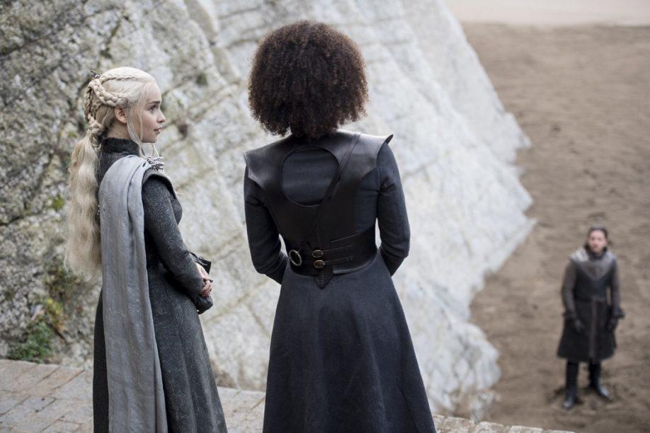 Nathalie Emmanuel, Emilia Clarke, Kit Harington (Crédit: Macall B. Polay/HBO)