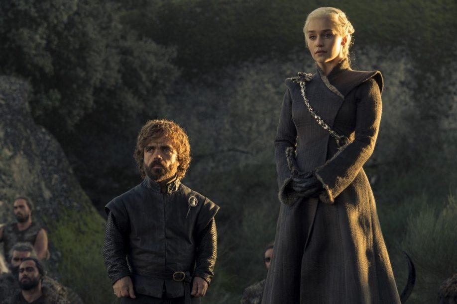 Tyrion Lannister et Daenerys Targaryen. Peter Dinklage, Emilia Clarke; (Crédit : Macall B. Polay/HBO).