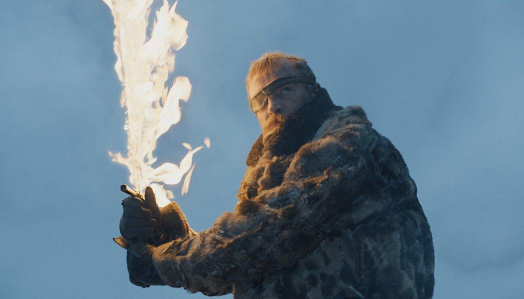 Béric Dondarrion, chef de la Fraternité sans bannière. Richard Dormer (Crédit : HBO)