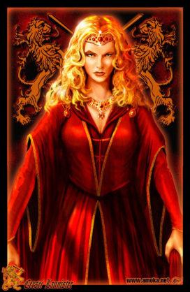 "Cersei Lannister (Crédits : <a href=""http://www.amokanet.ru/"">Amok</a>, avec son autorisation)"
