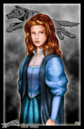 """Sansa Stark (Crédits : <a href=""""http://www.amokanet.ru/"""">Amok</a>, avec son autorisation)"""