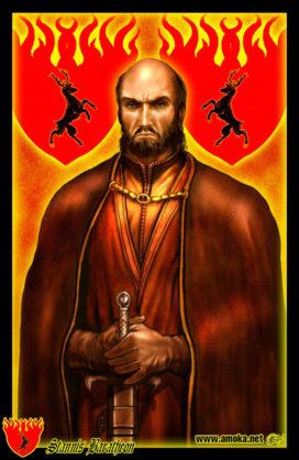 "Stannis Baratheon (Crédits : <a href=""http://www.amokanet.ru/"">Amok</a>, avec son autorisation)"