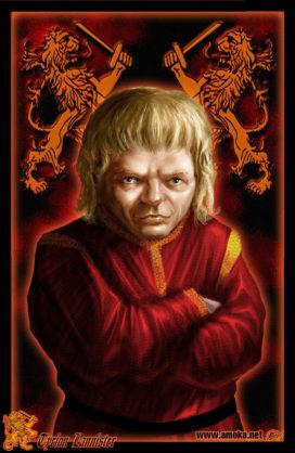 "Tyrion Lannister (Crédits : <a href=""http://www.amokanet.ru/"">Amok</a>, avec son autorisation)"