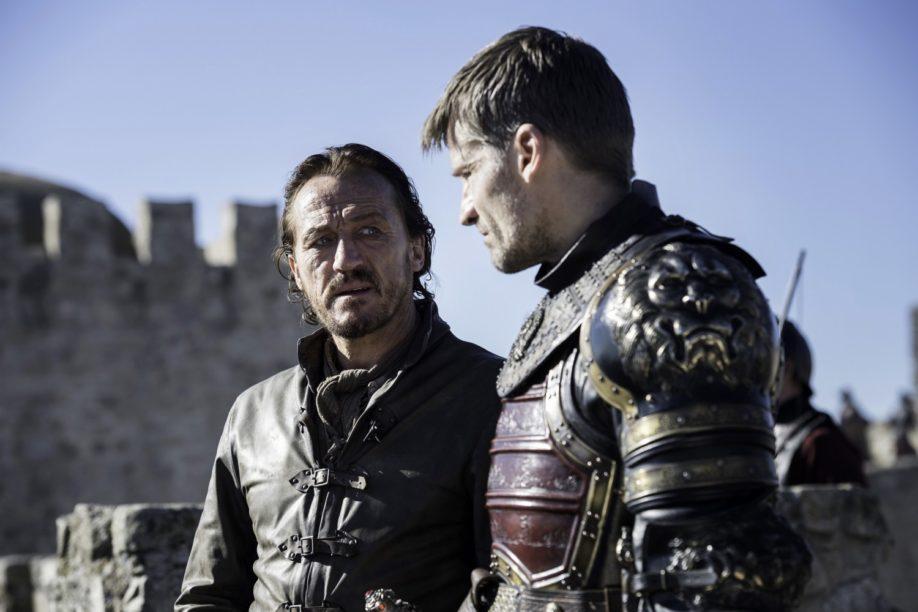 Jaime Lannister et son acolyte préféré ser Bronn de la Néra. Jerome Flynn, Nikolaj Coster-Waldau (Crédit : Macall B. Polay/HBO)