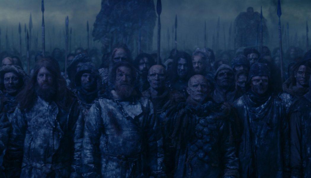 Les créatures des Marcheurs blancs (crédit : HBO)