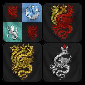 Blasons personnels de Targaryen (Evrach, La Garde de Nuit, CC BY-SA 3.0)