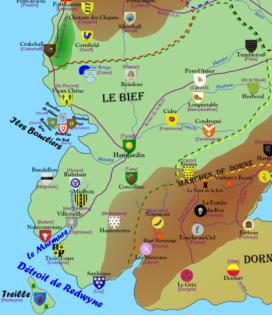 Carte du Bief (crédits : Direwolf, la Garde de Nuit)