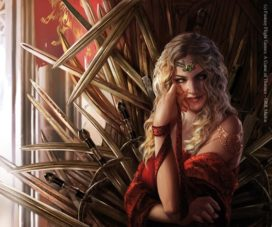 Cersei Lannister, reine régente (crédits : Magali Villeneuve, Fantasy Flight Games)