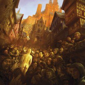 Marche d'Expiation de Cersei Lannister (crédits : Marc Simonetti, ASOIAF Calendar 2013)
