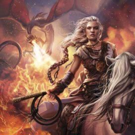 "Daenerys Targaryen à Astapor : ""Dracarys"" (crédits : Magali Villeneuve, ASOIAF Calendar 2016)"