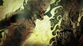 Exécution flamboyante de Lord Rickard Stark devant le roi Aerys II (crédits : HBO)