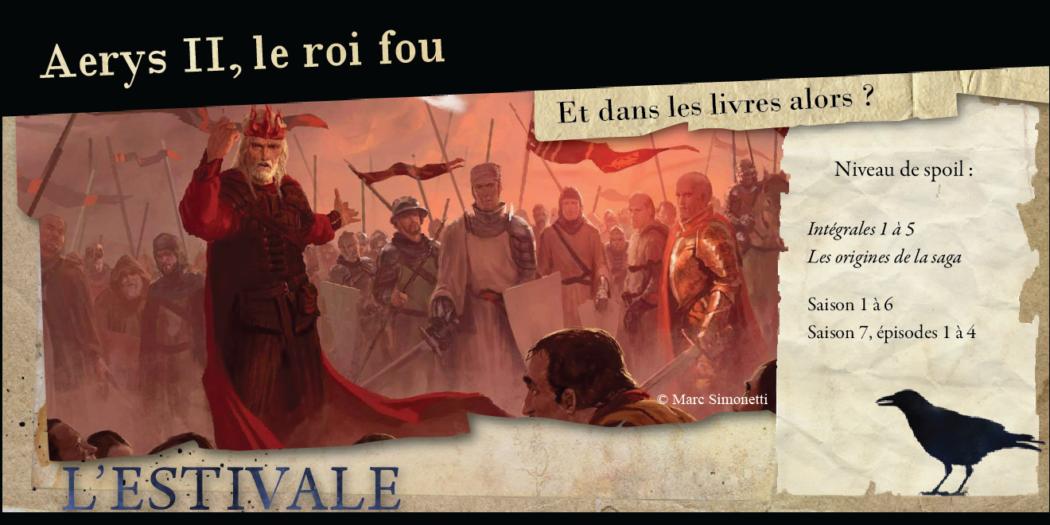 Aerys, le Roi Fou : Et dans les livres, alors ?