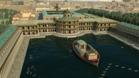 Reconstitution 3D de la domus aurea par Altair4 (crédits : Altair4 Multimedia)