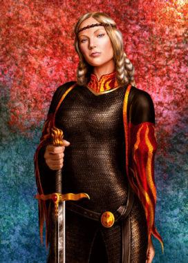 Visenya Targaryen, portant Noire Sœur