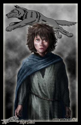 Arya Stark (Crédits Amok)