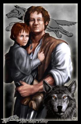 Bran Stark, Hodor et Été (Crédits Amok)