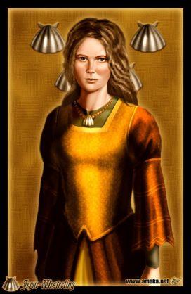 """Jeyne Ouestrelin, épouse de Robb Stark (Crédits <a href=""""http://www.amokanet.ru/"""">Amok</a>)"""