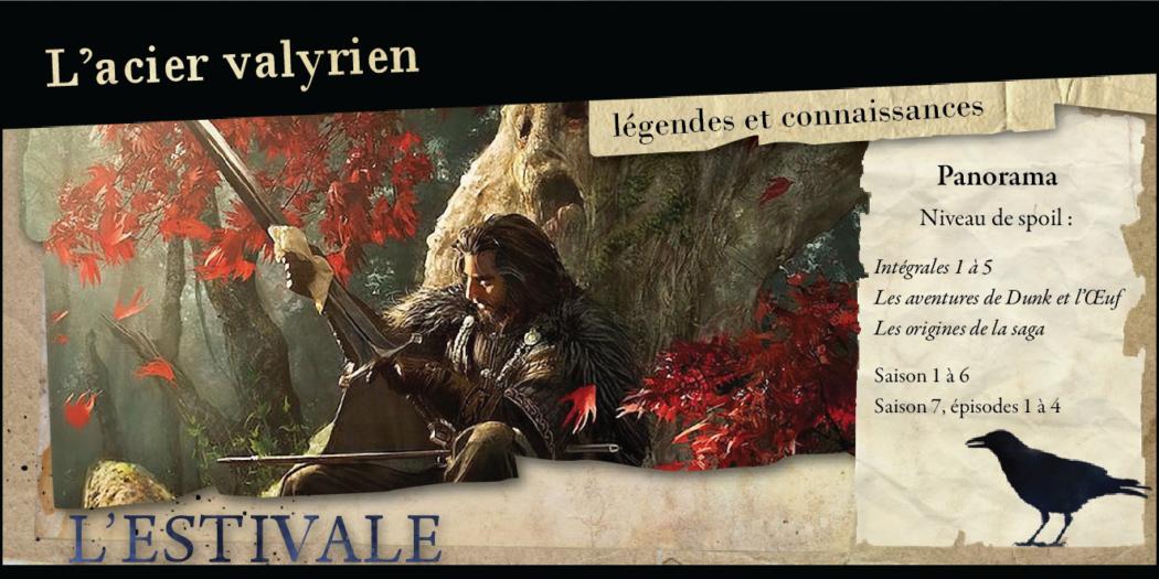 L'acier valyrien : légendes et connaissances