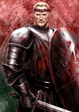 "Maegor I<sup>er</sup>  Targaryen (crédits <a href=""http://www.amokanet.ru/"">Amok</a>)"