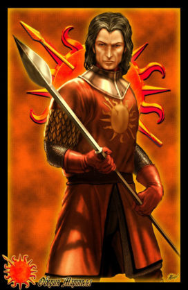 """Oberyn Martell (crédits <a href=""""http://www.amokanet.ru/"""">Amok</a>)"""