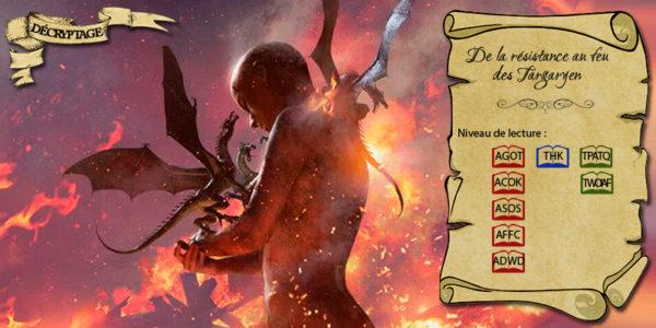 Daenerys sortant du bûcher de Khal Drogo (illustration : Michael Komarck ; montage : Evrach, La Garde de Nuit)