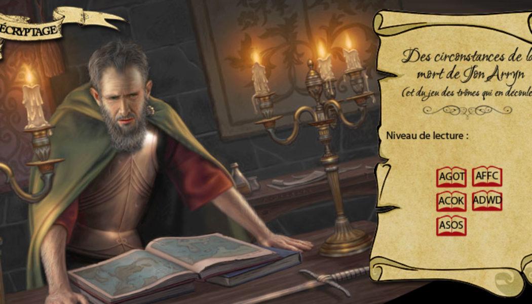 Jon Arryn, Main du Roi (illustration : Allen Douglass ; montage : Evrach, La Garde de Nuit)