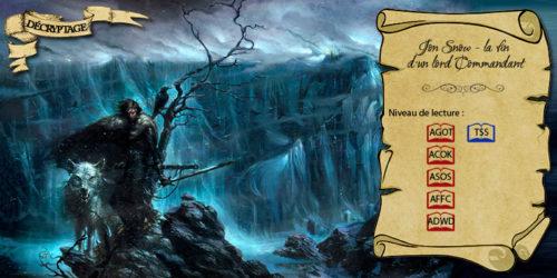 Jon Snow, Lord Commandant au Mur (illustration : Enrike Corominas ; montage : Evrach, La Garde de Nuit)