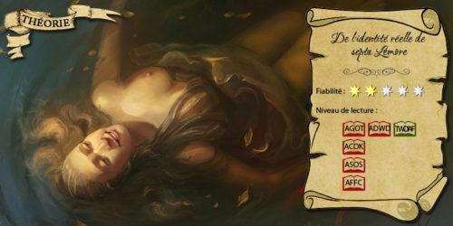 Septa Lemore dans les eaux de la Rhoyne (illustration : Anna Lakisova ; montage : Evrach, La Garde de Nuit)