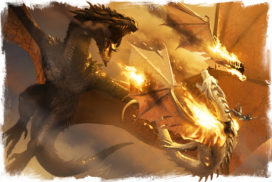 Balerion s'attaquant à Vif-Argent au cours de la Bataille sous l'Œildieu (crédits : Michael Komarck ; TWOIAF)