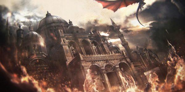 Maegor brûlant le Septuaire du Souvenir (Crédits Jordi Gonzalez Escamilla)