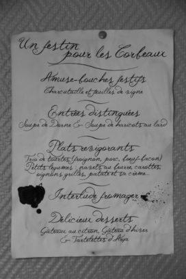 Souvenirs, souvenirs... Menu de l'IRL des 10 ans de la Garde de Nuit (crédit photo : Babar des Bois)