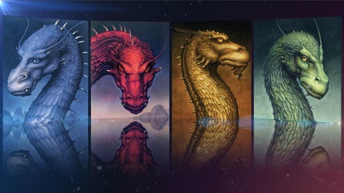 Mosaïque des couvertures d'Eragon par John Jude Palencar