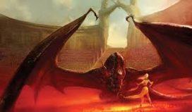 Drogon et Daenerys dans l'arène par Marc Simonetti