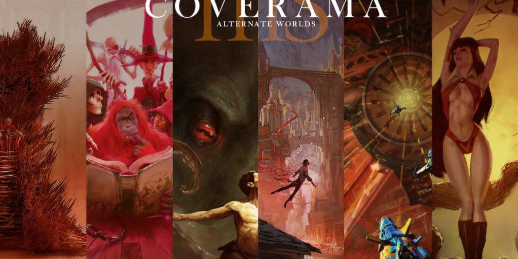 Pèle-mêle d'oeuvres de Marc Simonetti présent dans son artbook Coverama.