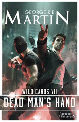"""Couverture du tome VII de Wild Cards, """"Dead Man's Hand"""" (crédits : Editions J'ai Lu, coll. """"Nouveaux Millénaires"""")"""