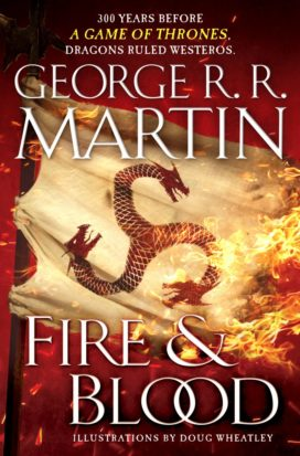 Couverture américaine de Fire and Blood (éditions Bantam Spectra)